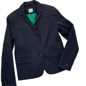 GAP Academy Navy Cotton Blend Two Button Blazer 8